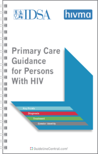 IDSA HIVMA Primary Care Guidance for Persons With HIV Guidelines Pocket Guide Cover
