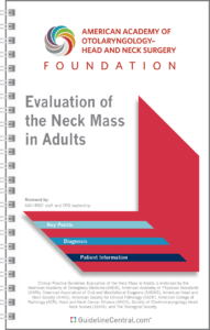 Evaluation of the Neck Mass in Adults GUIDELINES Pocket Guide