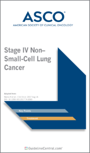 Stage IV Non-Small-Cell Lung Cancer GUIDELINES Pocket Guide