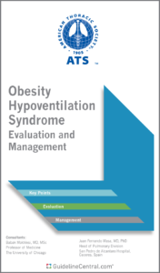 ATS Obesity Hypoventilation Syndrome Evaluation and Management Guidelines Pocket Guide Cover