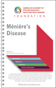 Ménière's Disease GUIDELINES Pocket Guide