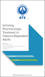 Initiating Pharmacologic Treatment in Tobacco-Dependent Adults GUIDELINES Pocket Guide