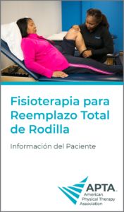 APTA - Physical Therapy for Total Knee Replacement Patient Information Pocket Guide Cover